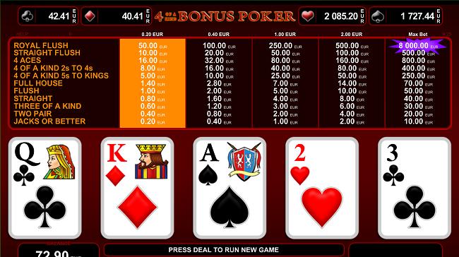 4ofakind klaver poker