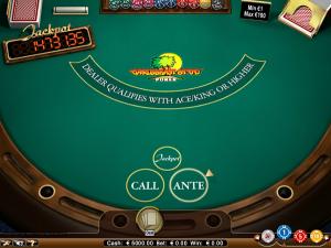 caribbean stud poker tafelspel