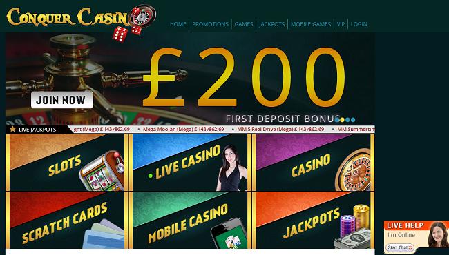 conquer casino-bonus