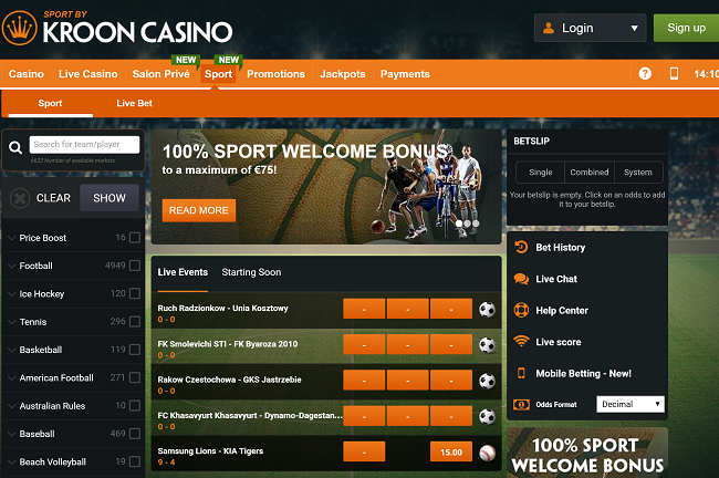 kroon casino sportsbook