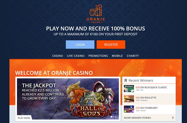Oranje Casino is in 2016 sterk verbeterd en vernieuwd. Bekijk hier het verschil tussen de ouder layout en de nieuwe.