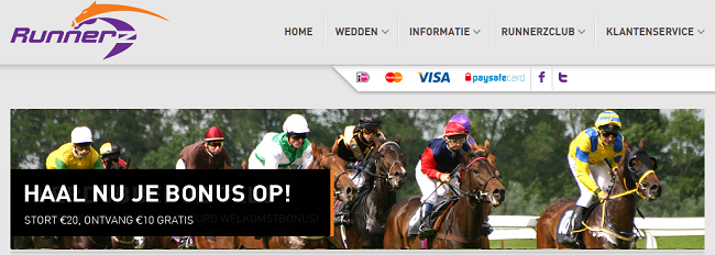 paardenrace bonus 10 euro