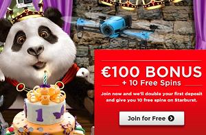 panda casino free spins