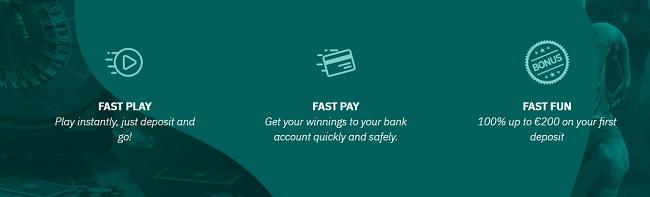 Pay & play bonus bij Fastbet
