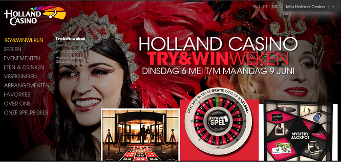 holland casino try en win uitslag
