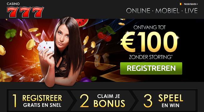 100 euro zonder storting bonus
